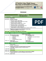 2nd ASEAN Rice Trade Forum 2013 Program