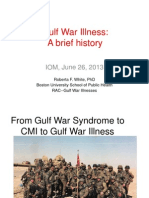 "Presentation – Dr. Roberta White - IOM Gulf War Illness ""CMI"" Panel."