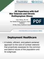 "Presentation – Dr. Drew Helmer - IOM Gulf War Illness ""CMI"" Panel."
