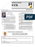 June-July Newsletter 2013