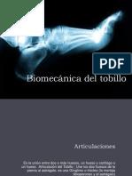 Biomecánica del tobillo