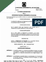 Reglamento de Pasantia de La Uneg 2013