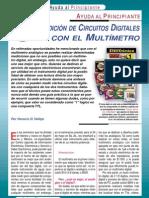 Multímetro Medición Circuitos Digitales