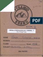 Chuka Ethnozoology (Birds) - V