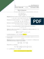 Corrección Segundo Parcial Cálculo III, 24 de junio 2013
