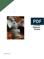 Crochet Elephant Plushie