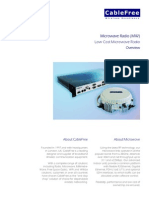 CableFree Low Cost Microwave Radio Datasheet