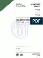 NBR 15495-1 - 2007 - Poços de Monitoramento de águas subterrâneas