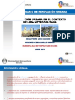 i Seminario de Renovacion Urbana-Vargasvia