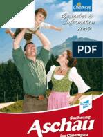 Aschau Gastgeberverzeichnis 2009