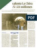 Obras en planta La Chira costarán 531 millones.