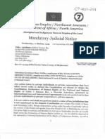 Mandatory Judicial Proclamation Attn