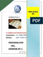 SERMÓN Nº 1-MALQUÍAS-FIDELIDAD Y OBEDIENCIA