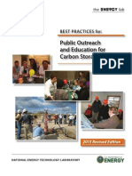 Best Practices for Public Outreach and Education for Carbon Storage Projects (NETL, 2013)