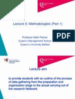 Lecture 5 Methodologies Part 1