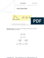 Sine Rule, Cosine Rule,trigonometry revision notes from A-level Maths Tutor