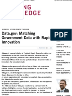 Matching Government Data with Rapid Innovation — HBS Working Knowledge