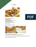 Pasta mediterránea con hongos