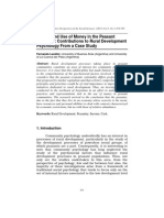 Landini 2011. Income and Use of Money in the Peasant Economy, Contributions to Rural Development Psychology