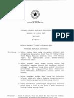 Undang Undang no 3 tahun 2007 tentang energi
