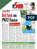 thesun 2009-05-07 page01 act fast on pkfz fiasco