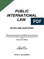 22407014 2008 L E I Notes in Public International Law