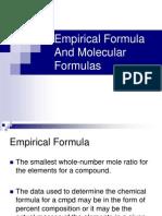 Empirical Formula and Molecular Formulas 1