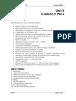 Unit 3 - Content of Wills