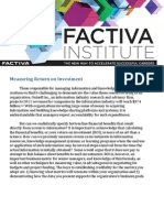 Factiva Measuring ROI