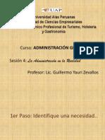 Clase 4 - Caso Práctico La Administración en la Realidad