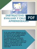 INSTRUCTIVO DE EVALUACIÓN