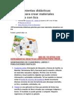 150 herramientas didácticas gratuitas para crear materiales educativos con tics