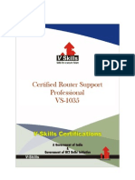 Vskills Certified Router Support Professional_Brochure