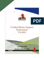 Vskills Certified Router Support Professional_Brochure