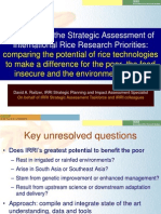 Results from the Strategic Assessment of International Rice Research Priorities