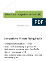 Sales Force Integration at FedEx (a)