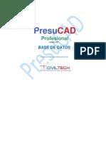 PresuCAD Base de Datos
