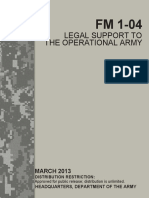 Fm 1-04 Legal Support to the Operational Army March 2013