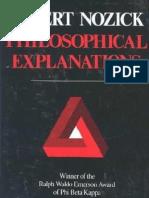 Nozick - Philosophical Explanations