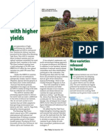 Rice Today Vol. 12, No. 3 Africa gets rice varieties with higher yields