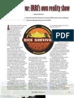 Rice Today Vol. 12, No. 3 Rice Survivor