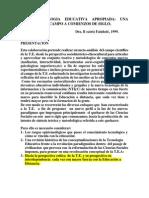 La tecnología educativa apropiada - Beatriz Fainholc.pdf