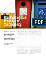 Gamification as a Promoter of Sustainability