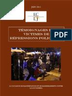 Rapport ECLJ Temoignages de Victimes de Repression Policiere Manif Pour Tous