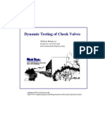 dynamic testing of checkvalve