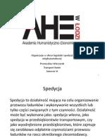 Przemysław Wieczorek - Organizacje w sferze logistyki i spedycji międzynarodowej