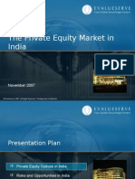 Evalueserve Private Equity Market in India Nov 2007