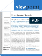 Policy Note on Privatization Trends
