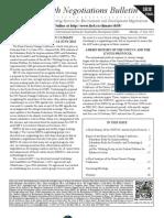 Earth Negotiations Bulletin – Final Report, June 2013