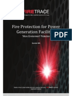 Generator Fire Supression System